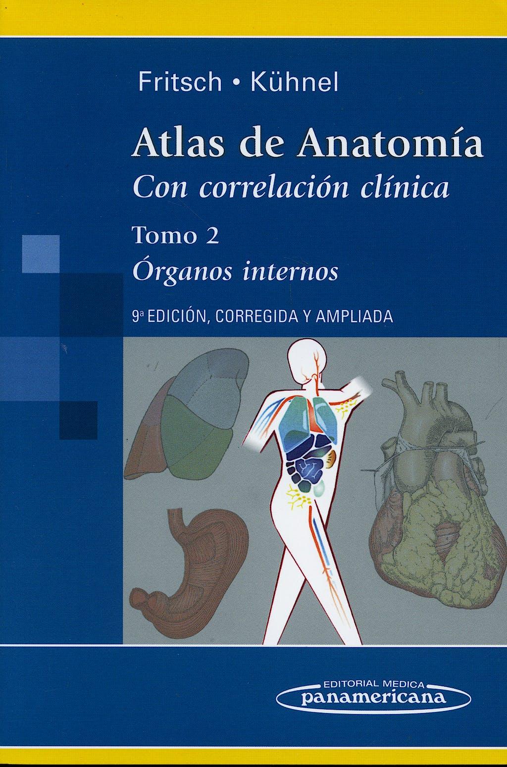 Portada del libro 9788498351262 Atlas de Anatomía con Correlación Clínica, Tomo 2: Órganos Internos