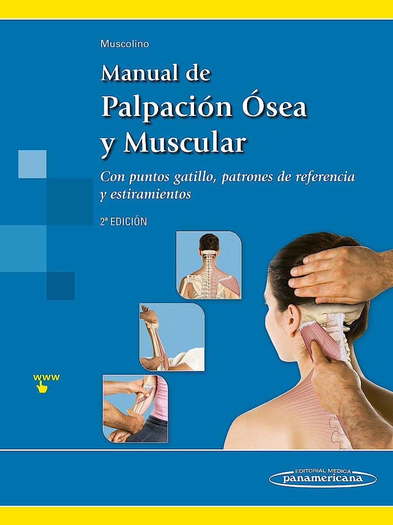 Portada del libro 9788498353655 Manual de Palpación Ósea y Muscular con Puntos Gatillo, Patrones de Referencia y Estiramientos