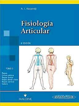 Portada del libro 9788498354607 Fisiología Articular, Tomo 3: Tronco y Raquis (Reimpresión 2012, Nuevo Formato)