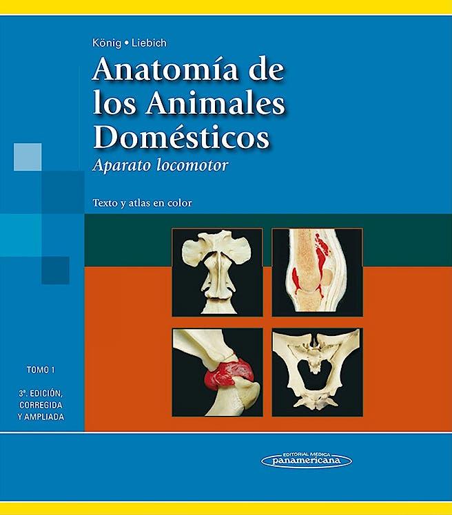 Portada del libro 9788498354706 Anatomía de los Animales Domésticos. Texto y Atlas en Color, Tomo 1: Aparato Locomotor (Reimpresión 2011, Nuevo Formato)