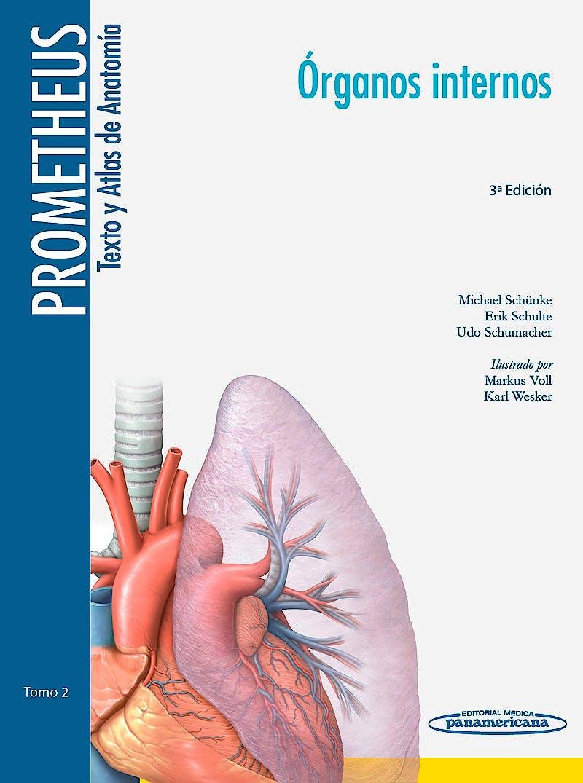 Portada del libro 9788498357639 PROMETHEUS Texto y Atlas de Anatomía, Tomo 2: Órganos Internos