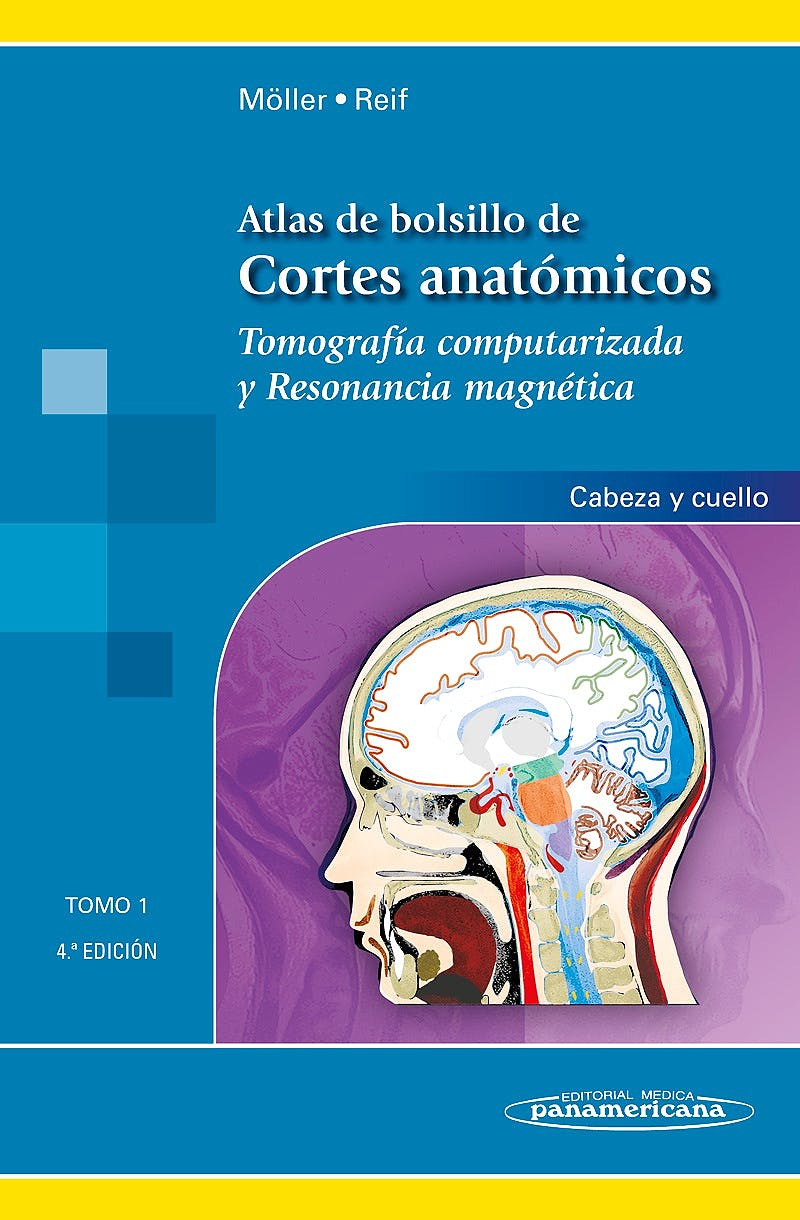 Portada del libro 9788498358377 Atlas de Bolsillo de Cortes Anatómicos. Tomografía Computarizada y Resonancia Magnética, Tomo 1: Cabeza y Cuello