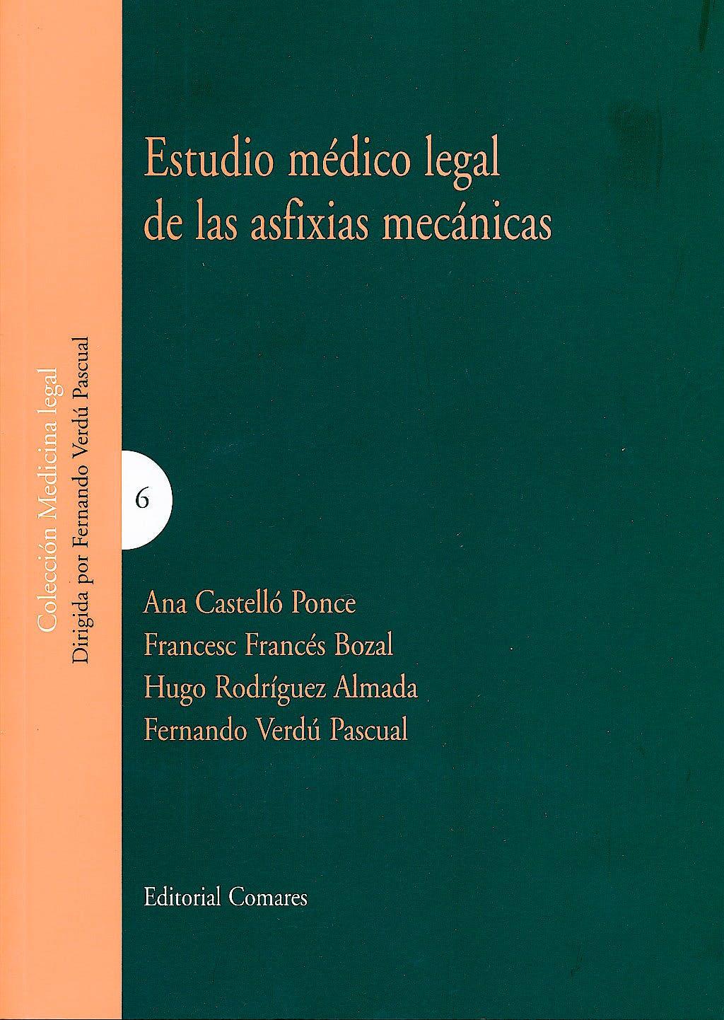 Portada del libro 9788498368703 Estudio Medico-Legal de las Asfixias Mecanicas