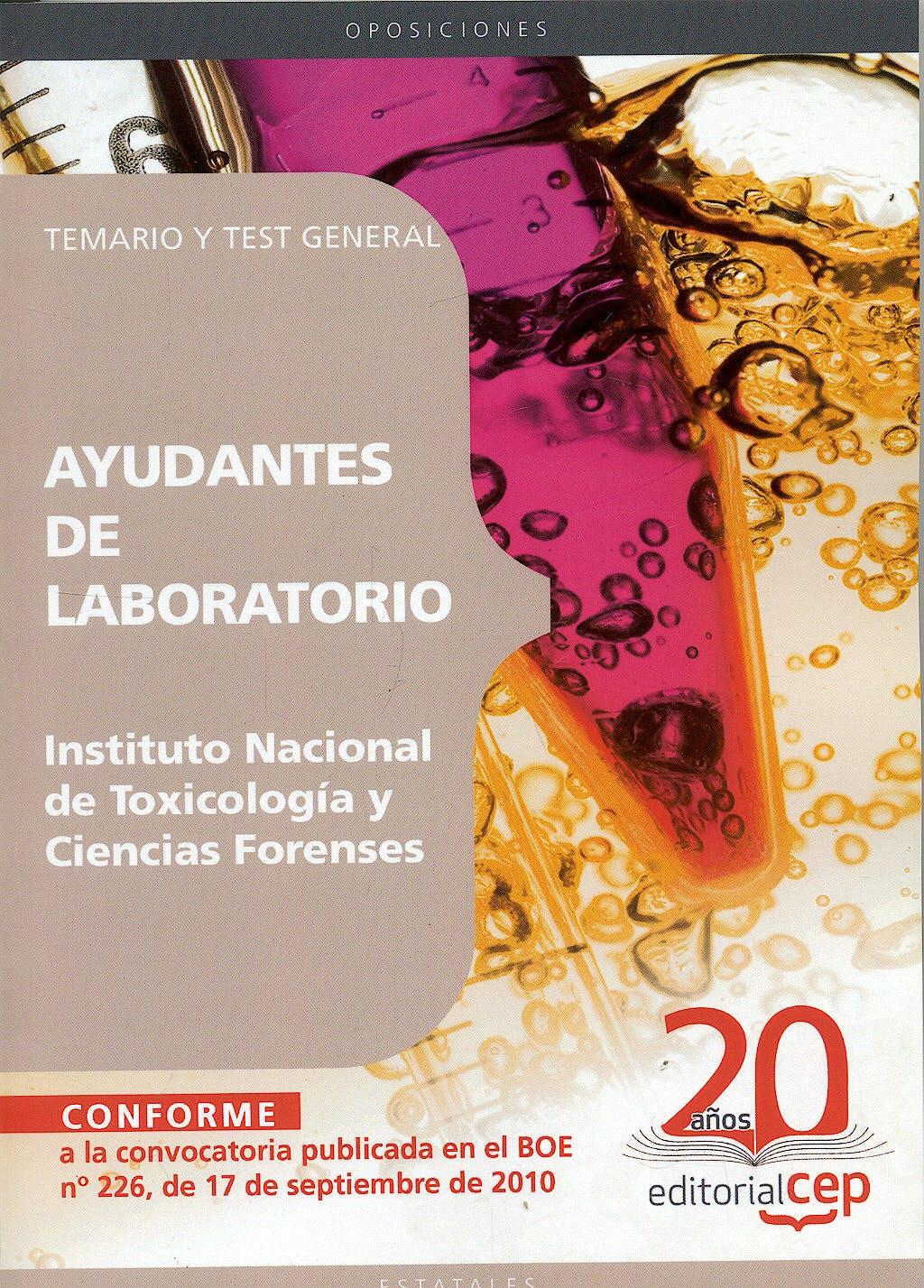 Portada del libro 9788498638851 Cuerpo Especial de Ayudantes de Laboratorio. Temario y Test General