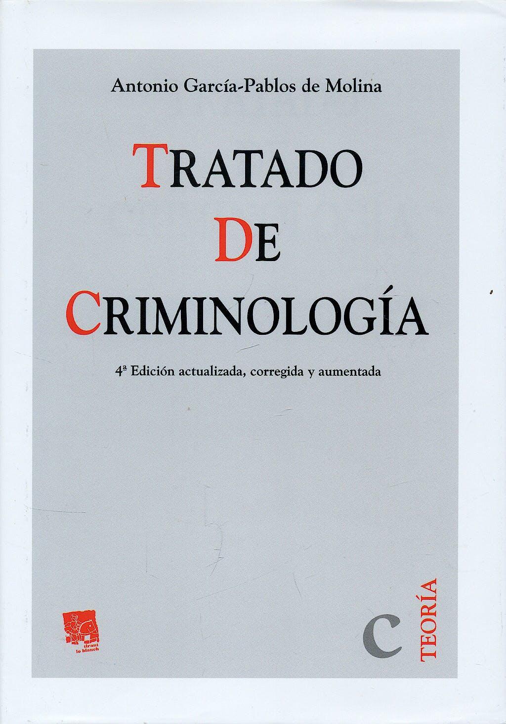Portada del libro 9788498763508 Tratado de Criminologia