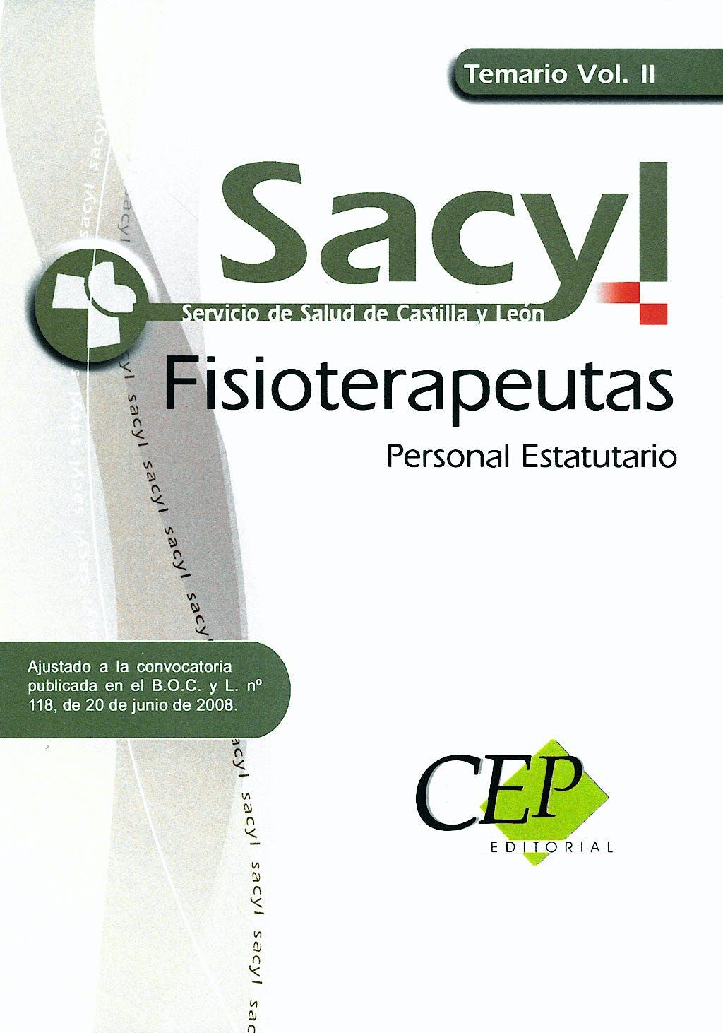 Portada del libro 9788498825398 Temario Vol Ii - Fisioterapeutas, Personal Estatutario Sacyl