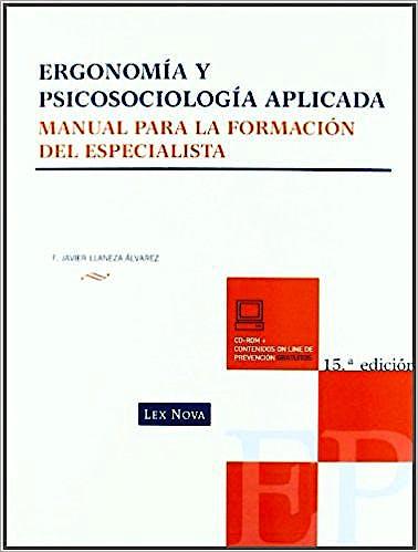 Portada del libro 9788498981193 Ergonomia y Psicosociologia Aplicada