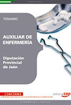 Portada del libro 9788499241555 Auxiliar de Enfermeria Diputacion Provincial de Jaen. Temario