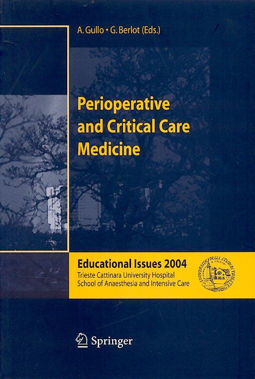 Portada del libro 9788847002784 Perioperative and Critical Care Medicine