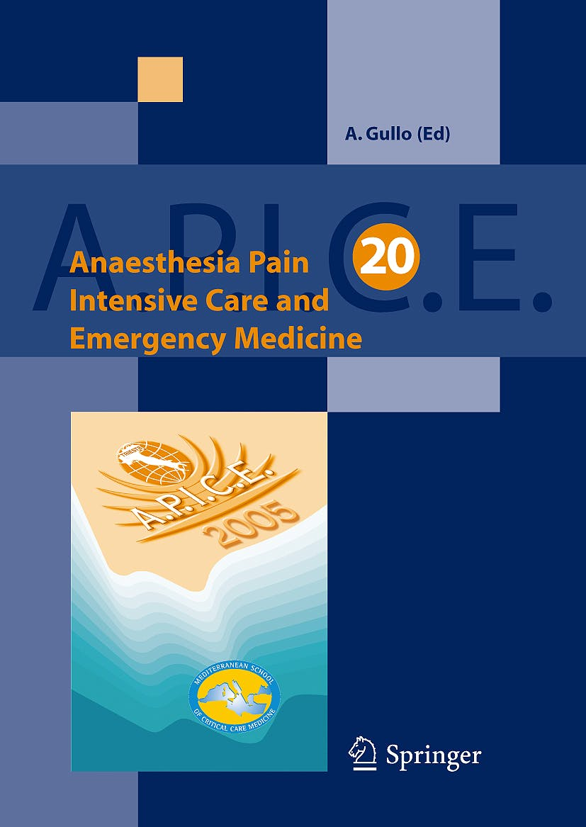 Portada del libro 9788847004061 Anaesthesia Pain Intensive Care and Emergency Medicine