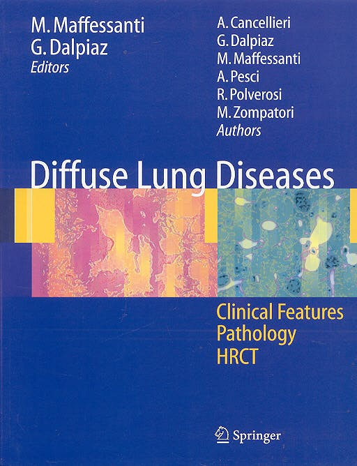 Portada del libro 9788847004290 Diffuse Lung Diseases Clinical Features, Pathology, Hrct