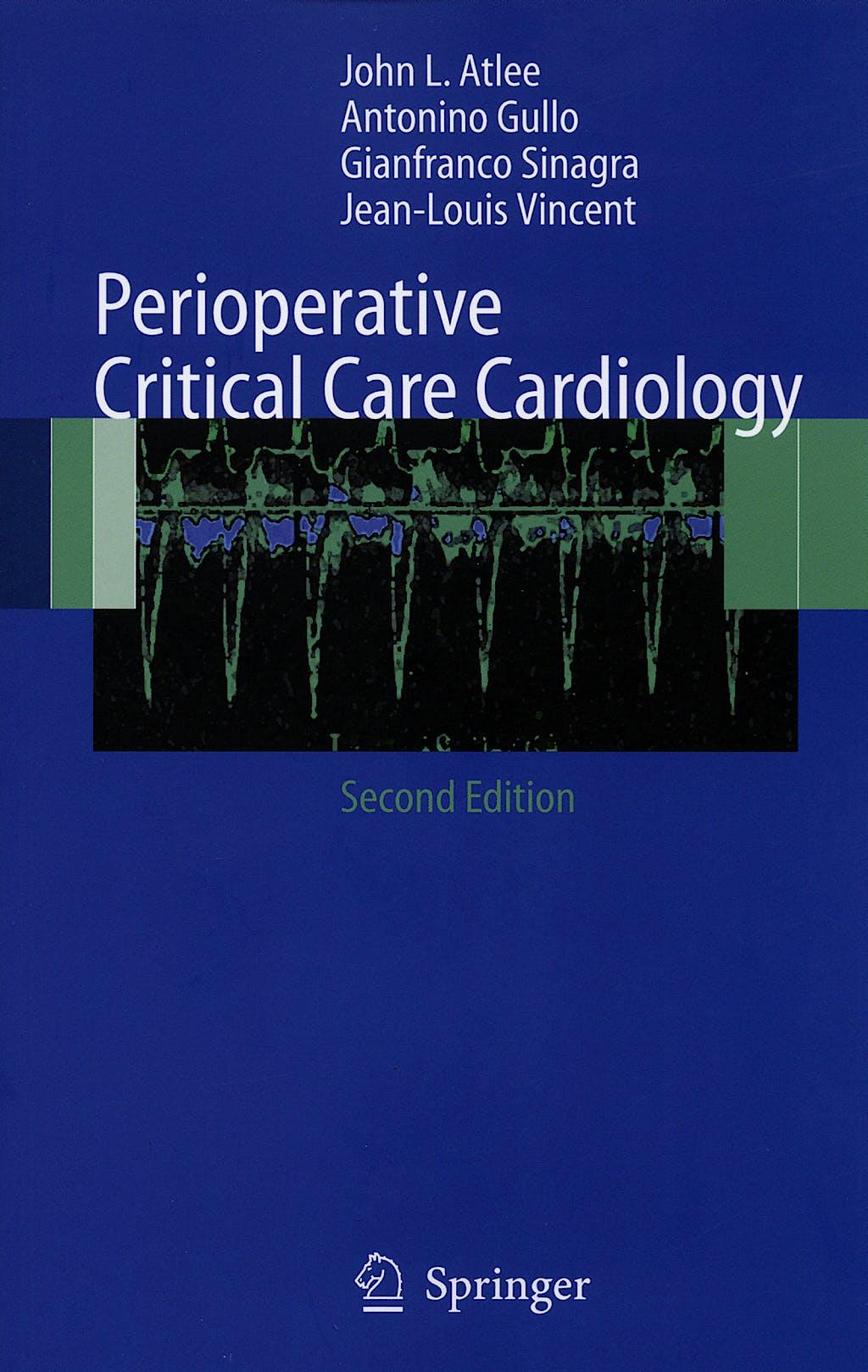 Portada del libro 9788847005570 Preoperative Critical Care Cardiology