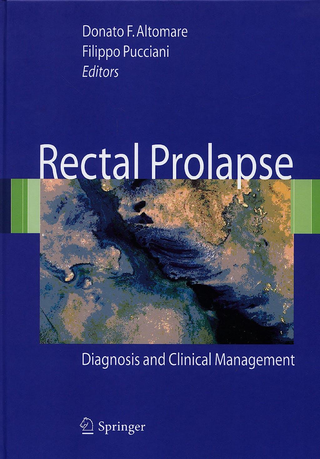 Portada del libro 9788847006836 Rectal Prolapse