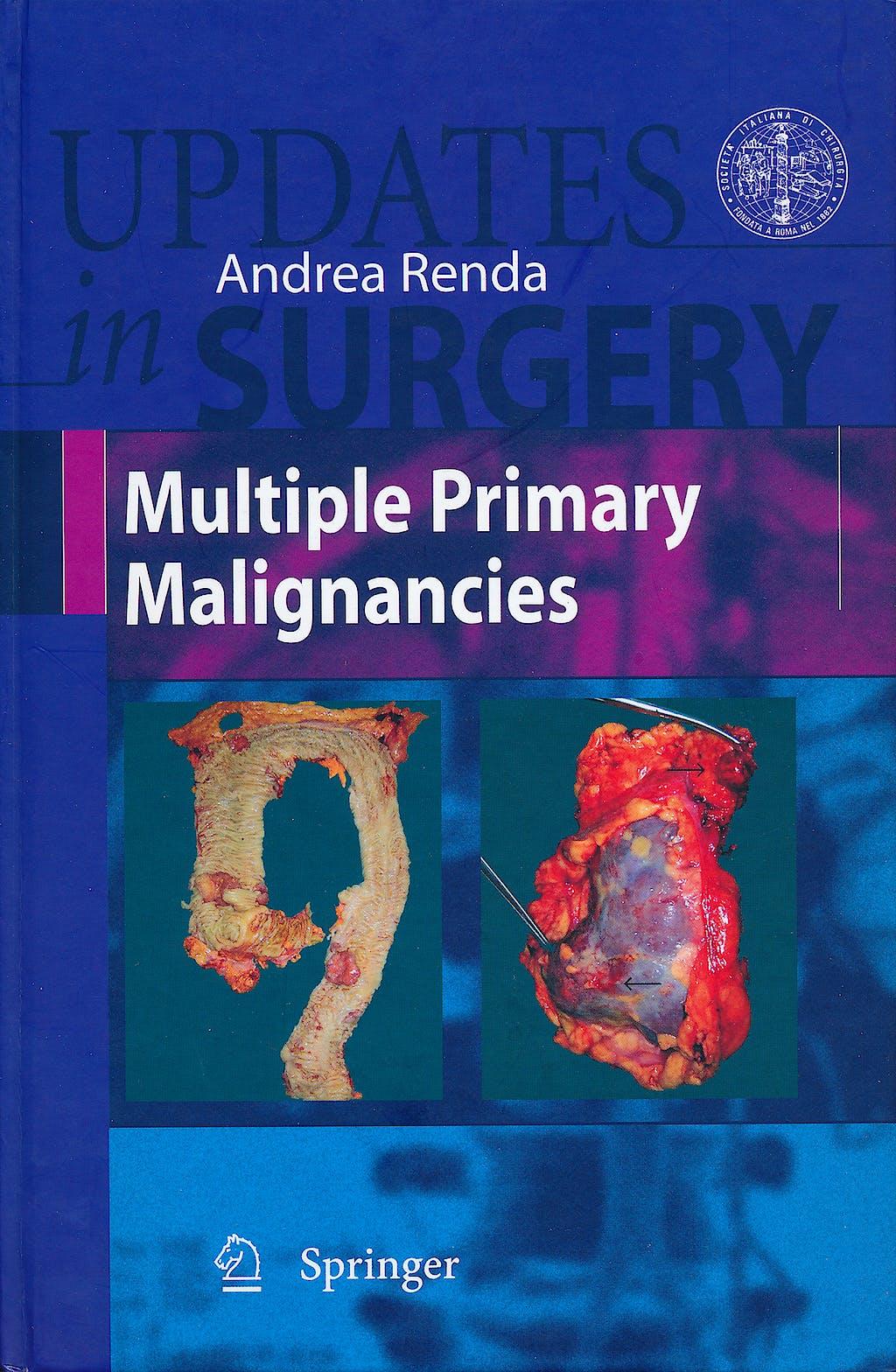 Portada del libro 9788847010949 Multiple Primary Malignancies