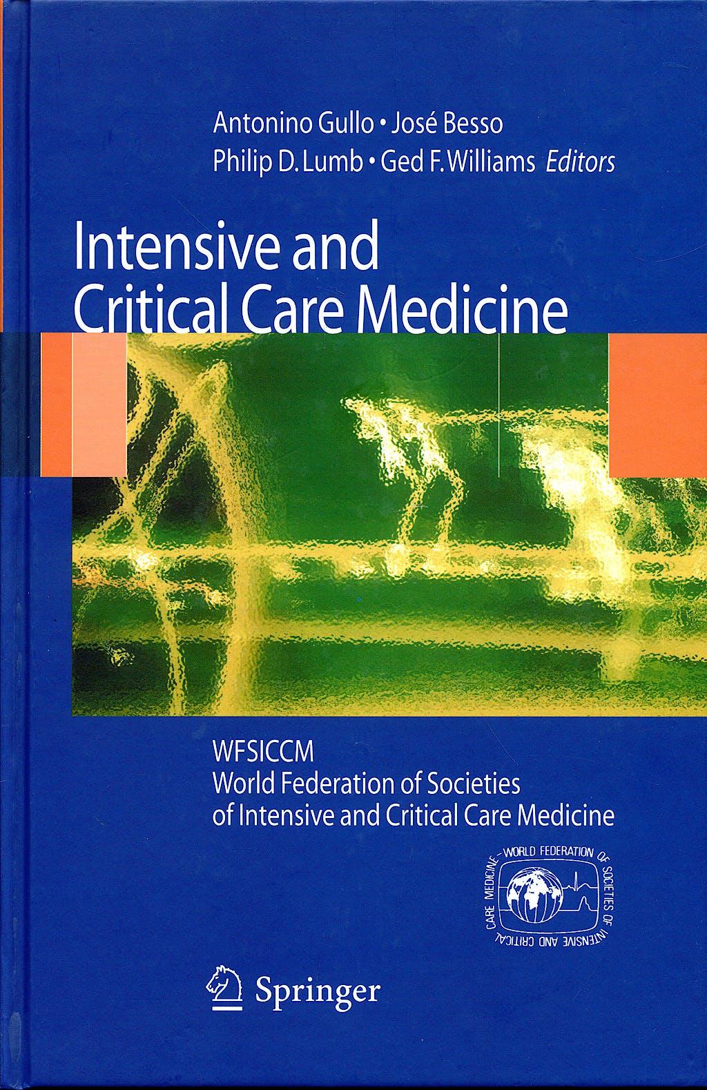 Portada del libro 9788847014350 Intensive and Critical Care Medicine. Wfsiccm World Federation of Societies of Intensive and Critical Care Medicine