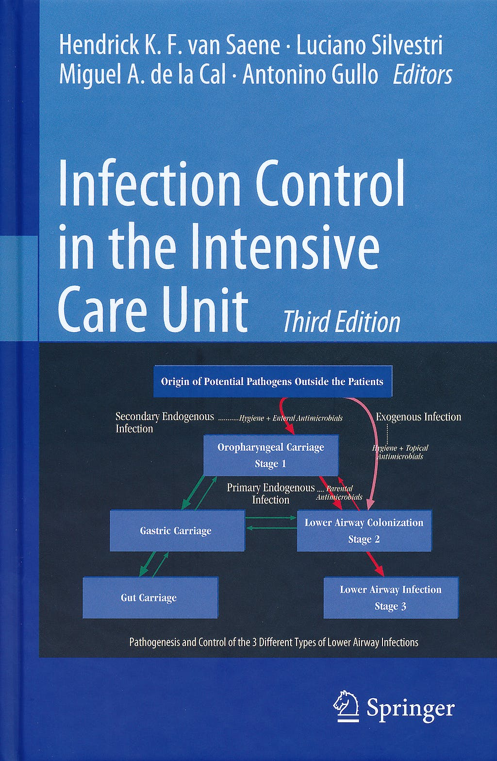 Portada del libro 9788847016002 Infection Control in the Intensive Care Unit