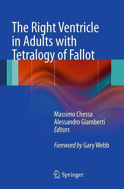 Portada del libro 9788847023574 The Right Ventricle in Adults with Tetralogy of Fallot
