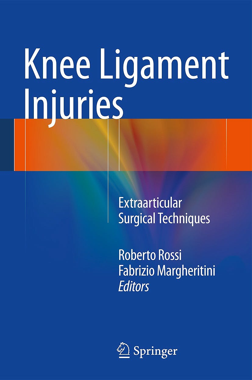 Portada del libro 9788847055124 Knee Ligament Injuries. Extraarticular Surgical Techniques