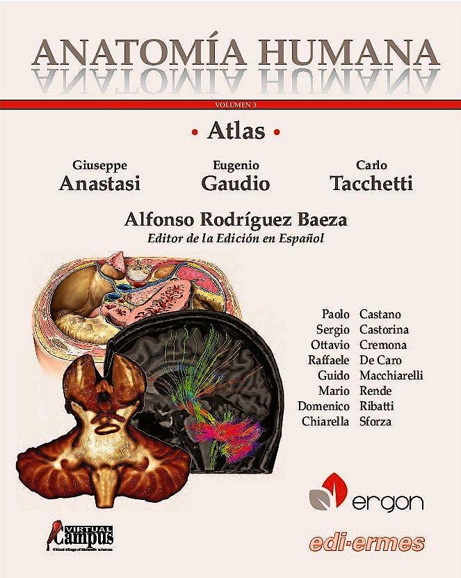 Portada del libro 9788870515497 Atlas de Anatomía Humana, Vol. 3 + Acceso Online
