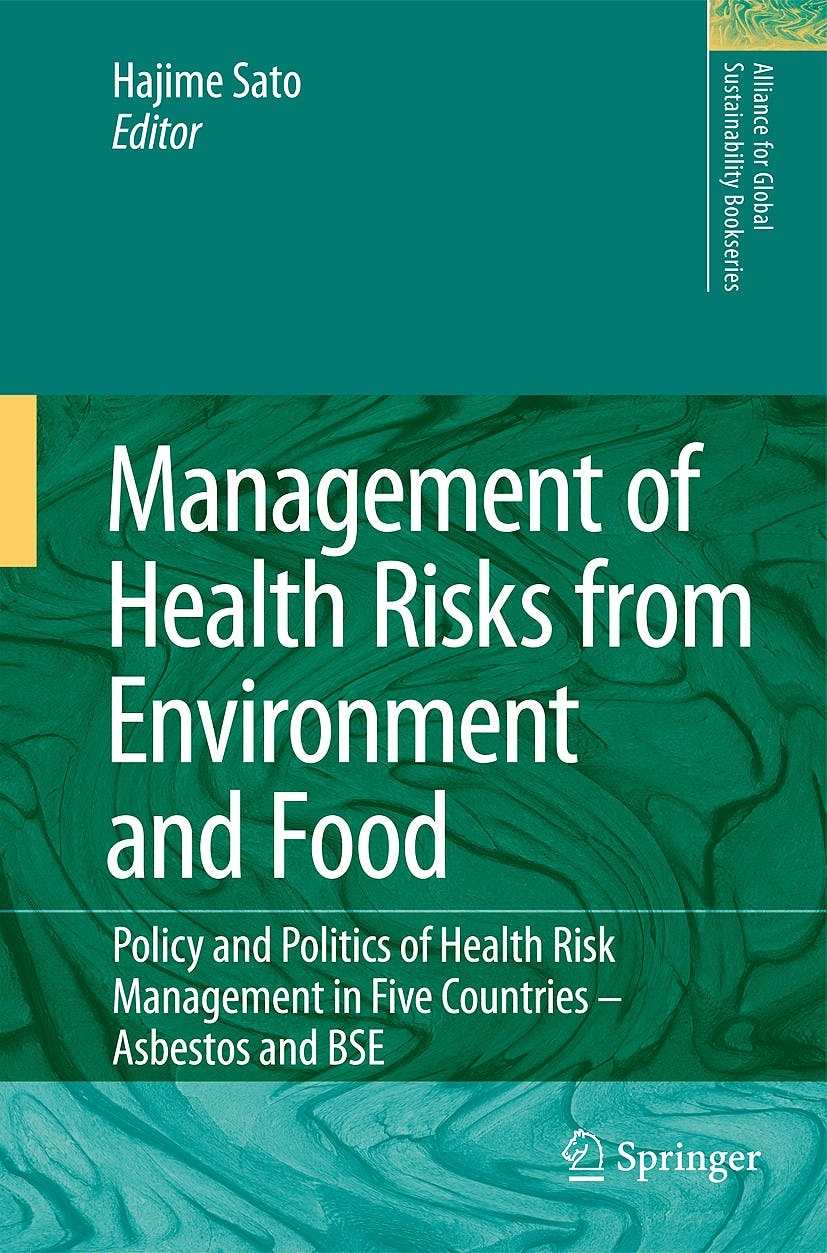 Portada del libro 9789048130276 Management of Health Risks from Environment and Food