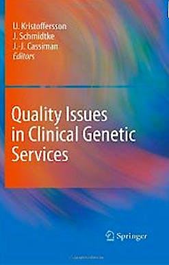 Portada del libro 9789048139187 Quality Issues in Clinical Genetic Services