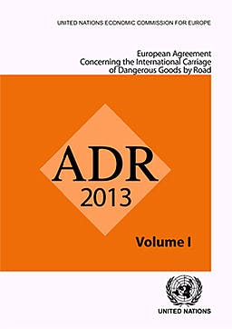 Portada del libro 9789211391435 Adr 2013, European Agreement concerning the International Carriage of Dangerous Goods by Road, 2 Vols.