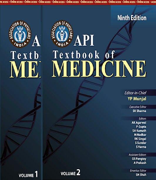 Portada del libro 9789350250747 Api Textbook of Medicine, 2 Vols.