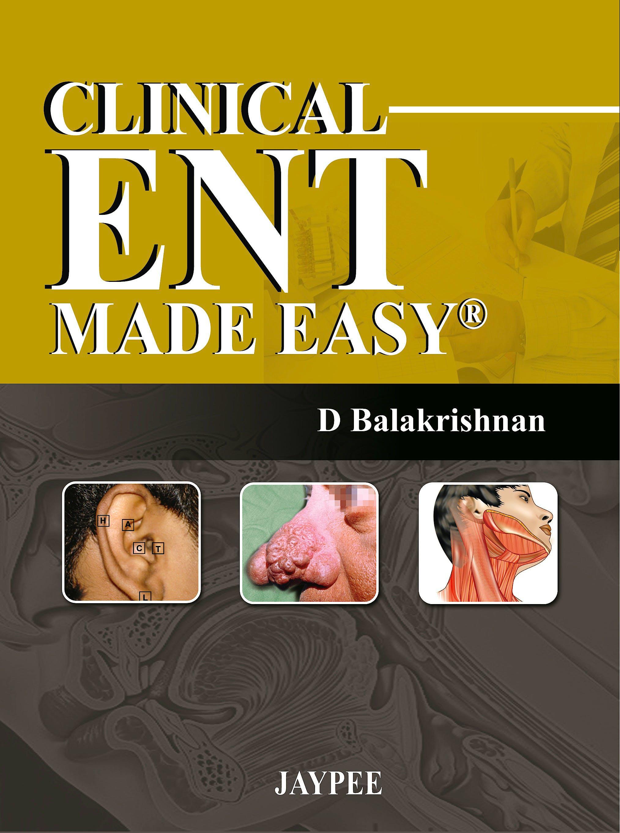 Portada del libro 9789350250846 Clinical Ent Made Easy