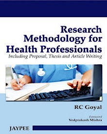 Portada del libro 9789350251010 Research Methodology for Health Profession