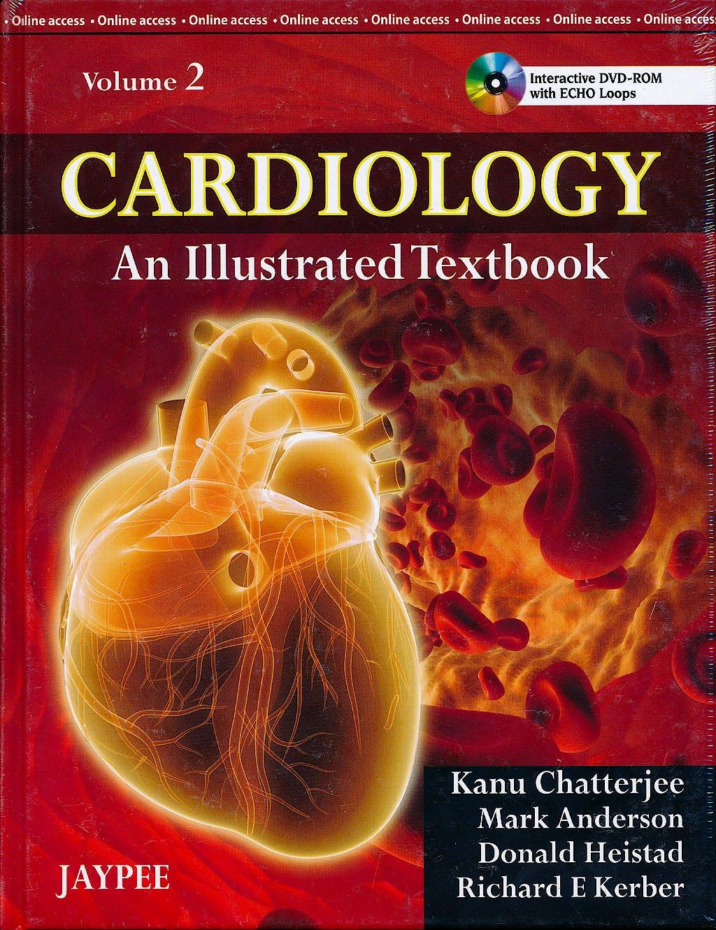 Portada del libro 9789350252758 Cardiology. an Illustrated Textbook, 2 Vols. + Dvd-Rom