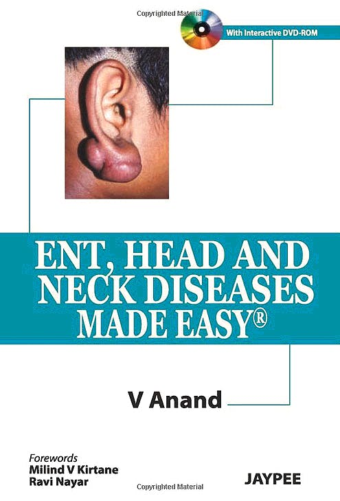 Portada del libro 9789350253472 Ent, Head and Neck Diseases Made Easy + Dvd-Rom