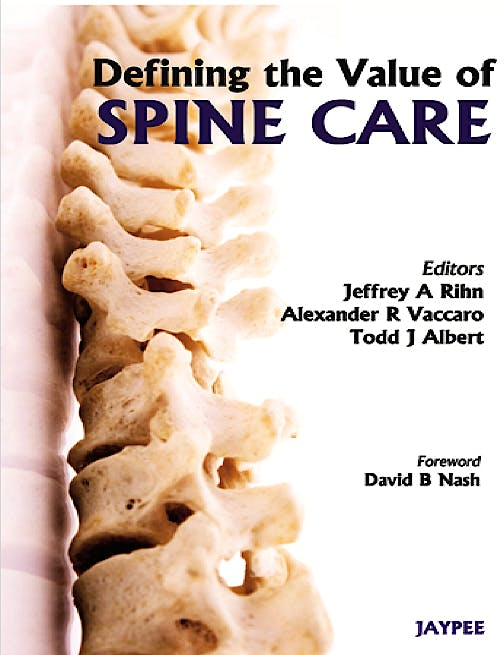 Portada del libro 9789350254905 Defining the Value of Spine Care