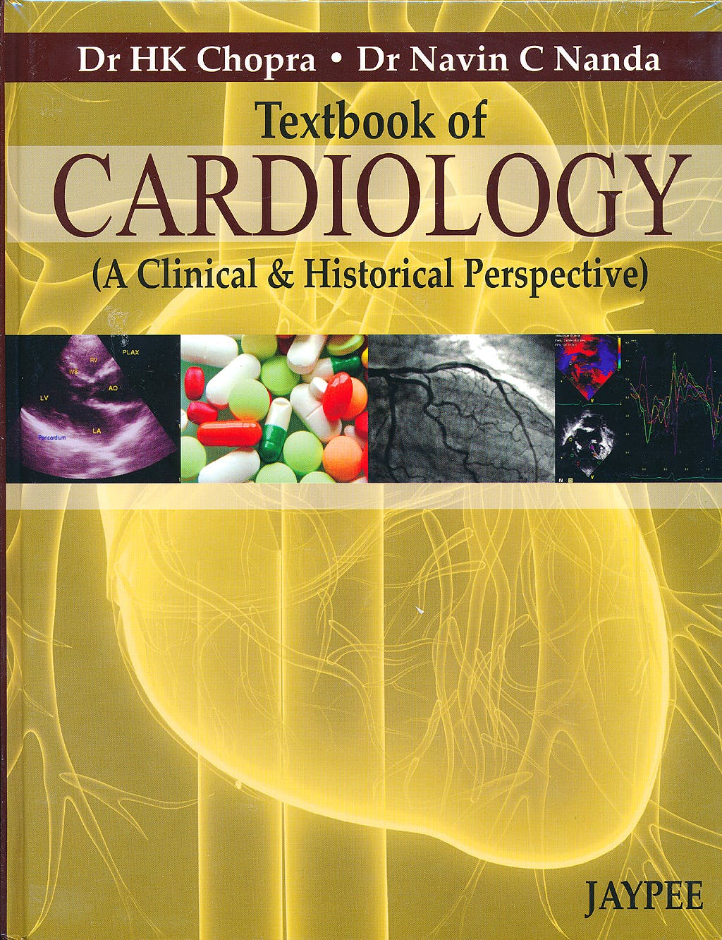 Portada del libro 9789350900819 Textbook of Cardiology (A Clinical and Historical Perspective)