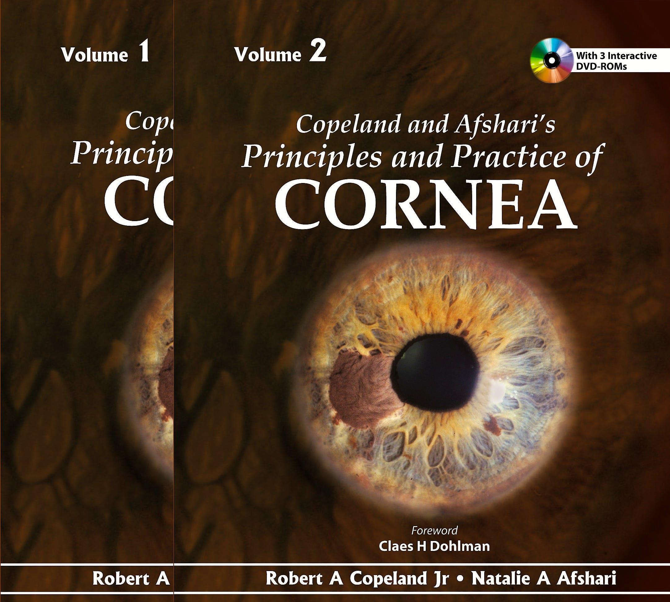 Portada del libro 9789350901724 Copeland and Afshari's Principles and Practice of Cornea, 2 Vols. + 3 Dvd-Roms