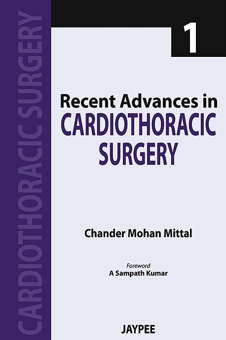 Portada del libro 9789350903230 Recent Advances in Cardiothoracic Surgery - 1