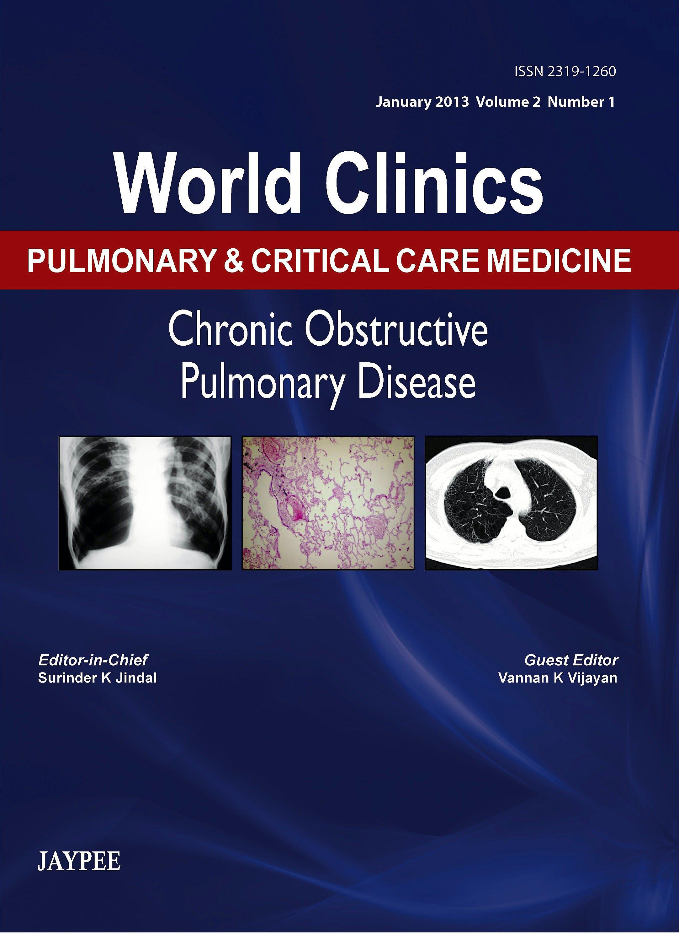 Portada del libro 9789350903537 World Clinics Pulmonary and Critical Care Medicine. Chronic Obstructive Pulmonary Disease