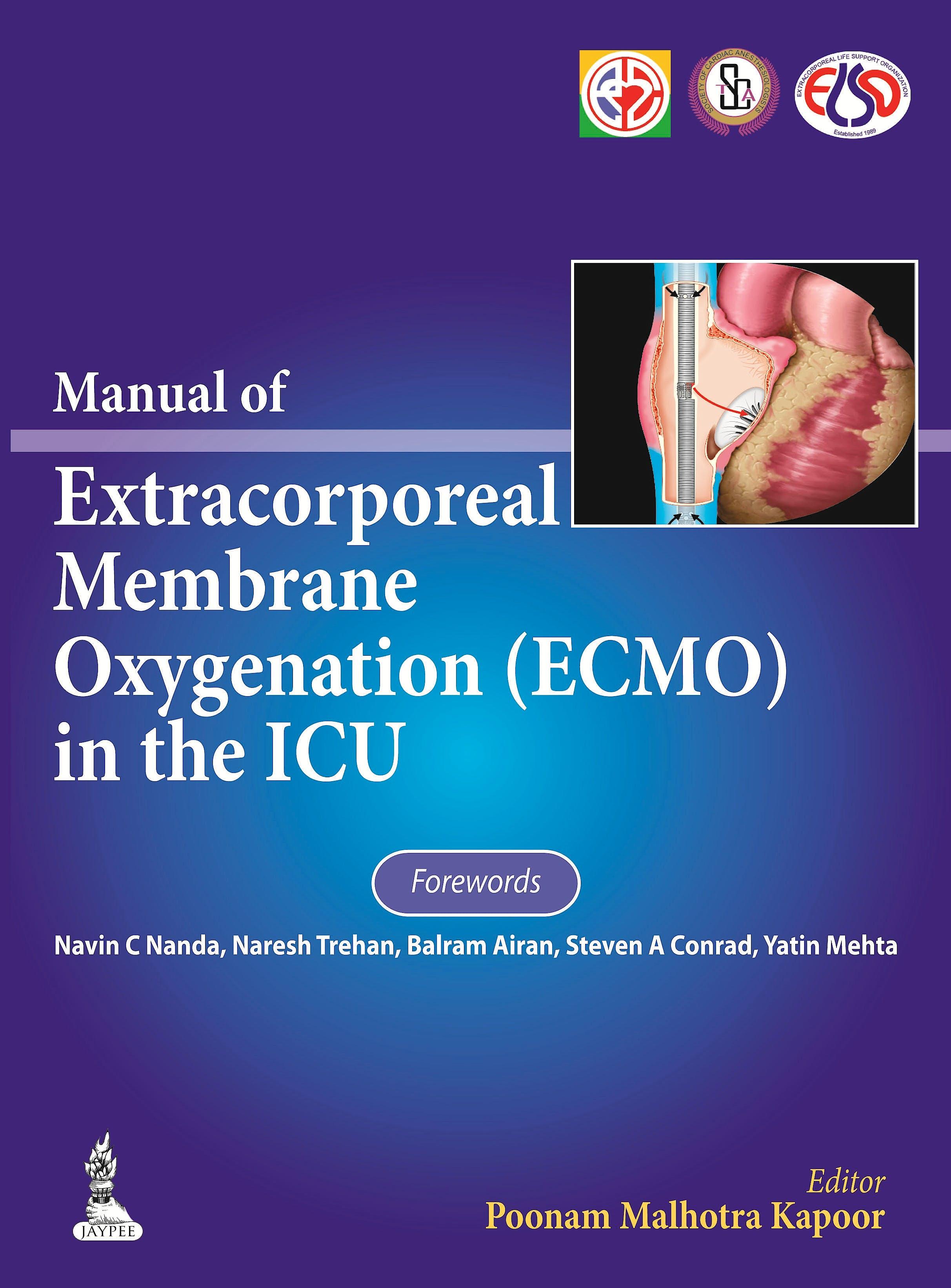 Portada del libro 9789350906330 Manual of Extracorporeal Membrane Oxygenation (Ecmo) in the Icu