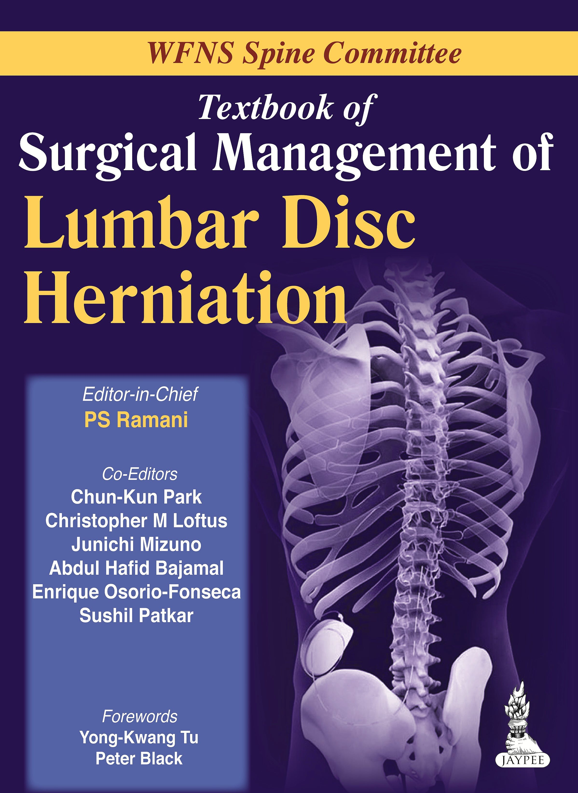 Portada del libro 9789350909621 Textbook of Surgical Management of Lumbar Disc Herniation