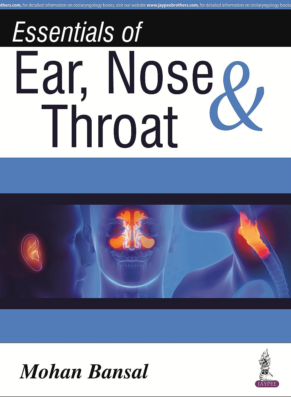 Portada del libro 9789351523314 Essentials of Ear, Nose and Throat