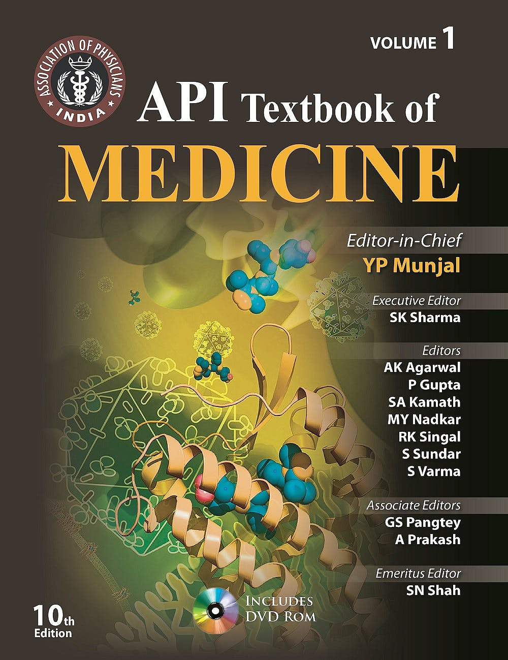 Portada del libro 9789351524151 Api Textbook of Medicine (Volume I & Ii)