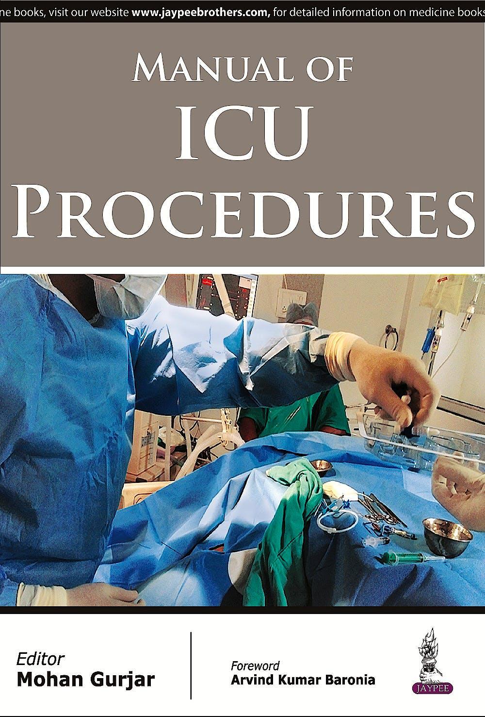Portada del libro 9789351524229 Manual of Icu Procedures