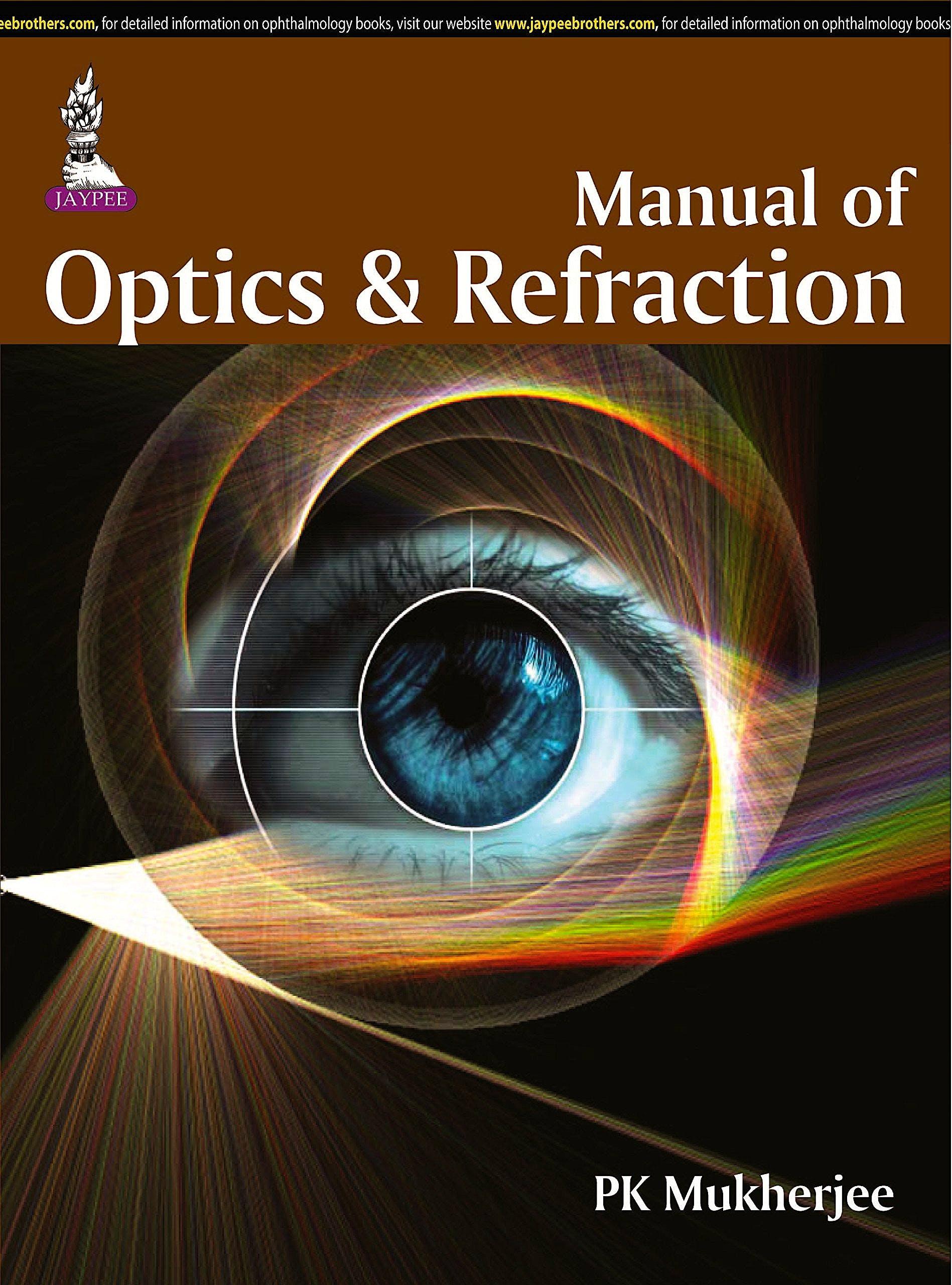 Portada del libro 9789351524502 Manual of Optics and Refraction