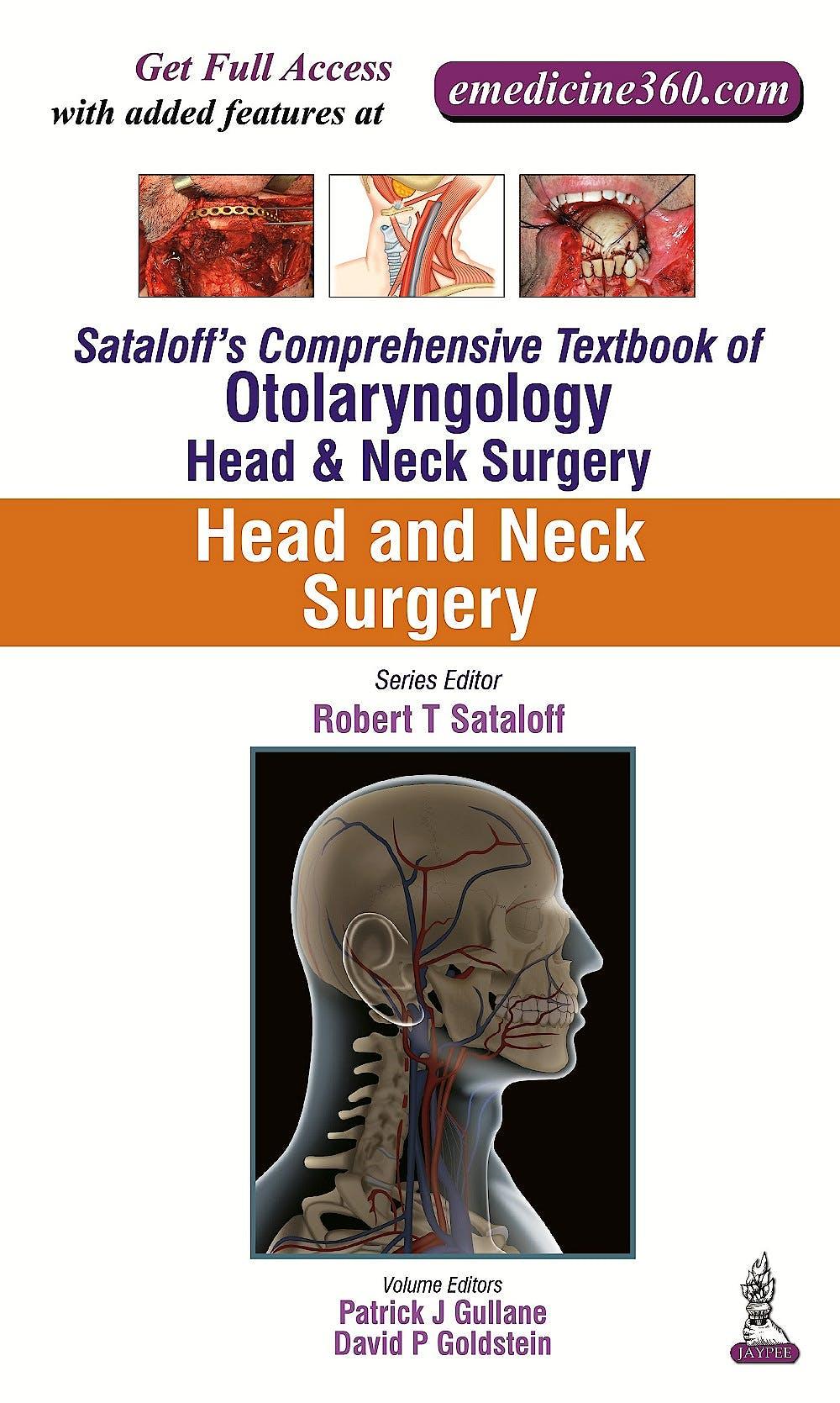 Portada del libro 9789351524588 Sataloff's Comprehensive Textbook of Otolaryngology: Head & Neck Surgery Vol. 5:  Head & Neck Surgery