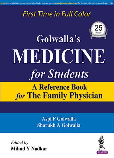 Portada del libro 9789351524748 Golwalla's Medicine for Students. A Reference Book for the Family Physician