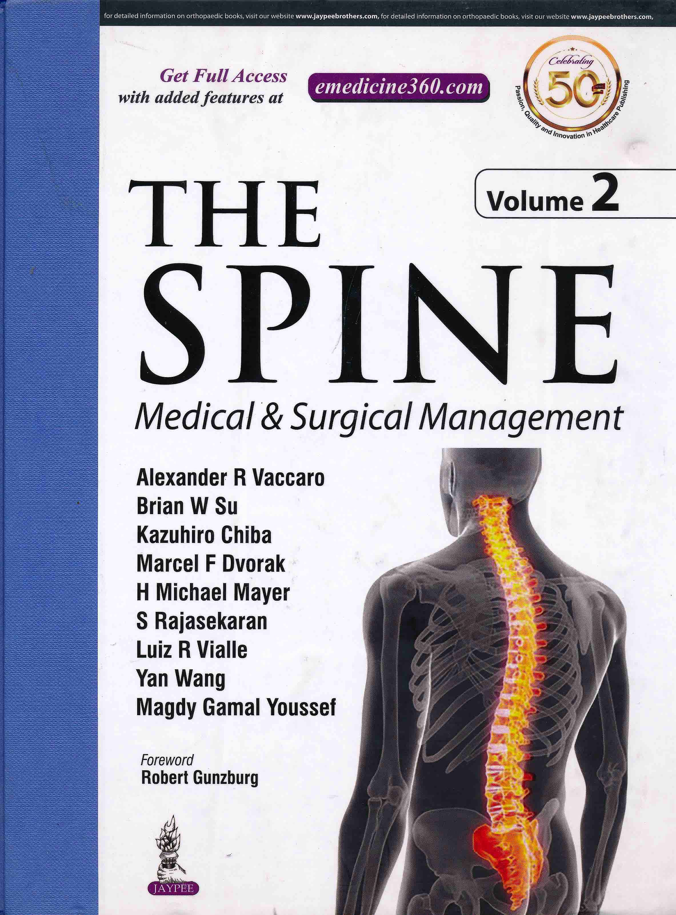Portada del libro 9789351524946 The Spine. Medical and Surgical Conditions, 2 Vols.