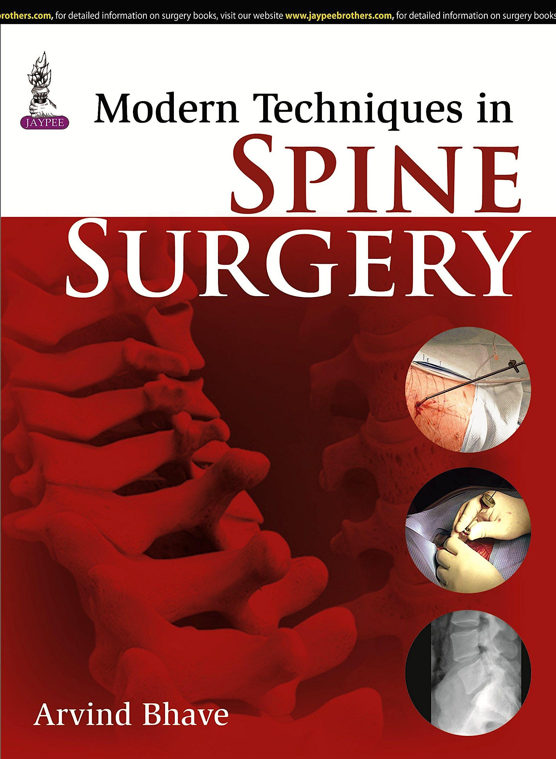 Portada del libro 9789351525301 Modern Techniques in Spine Surgery