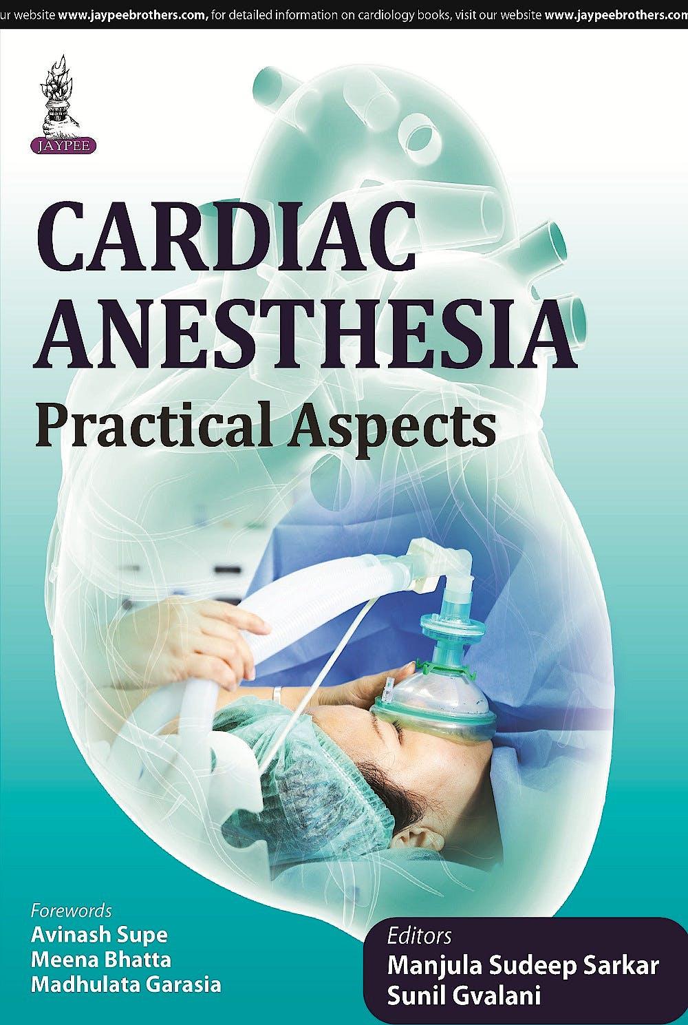 Portada del libro 9789351528227 Cardiac Anesthesia. Practical Aspects