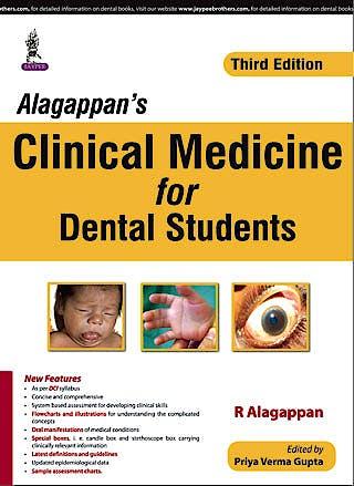 Portada del libro 9789351528791 Alagappan's Clinical Medicine for Dental Students