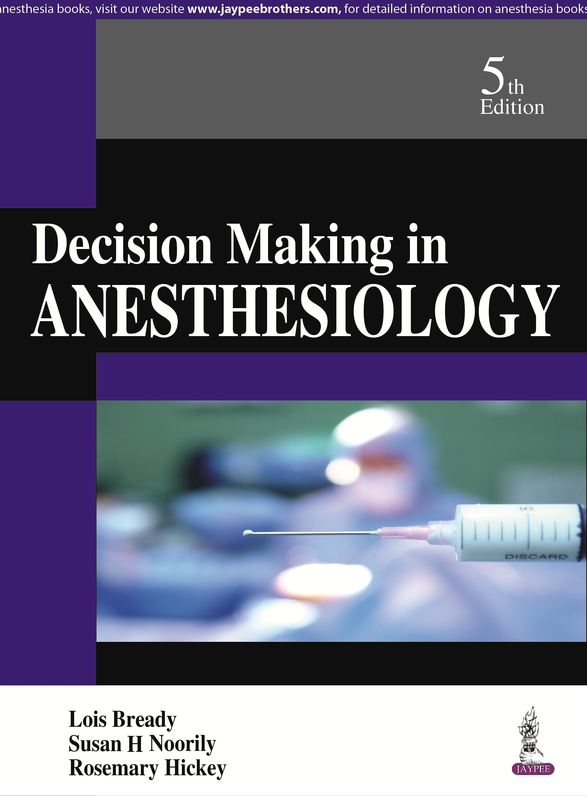 Portada del libro 9789351529453 Decision Making in Anesthesiology