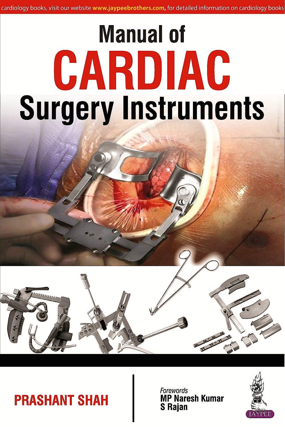 Portada del libro 9789352500062 Manual of Cardiac Surgery Instruments
